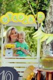 Lemonade picnic royalty free stock images