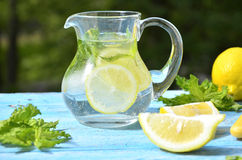 Lemonade in the pitcher. Stock Photography