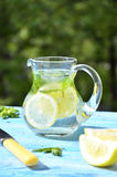 Lemonade in the pitcher. Royalty Free Stock Image