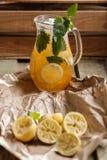 Lemonade pitcher stock images