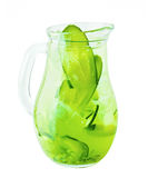 Lemonade Pitcher. Сucumber Lemonade Drink Royalty Free Stock Photo