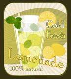 Lemonade poster Royalty Free Stock Photos