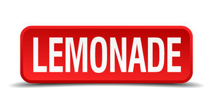 Lemonade red 3d square button Royalty Free Stock Photos