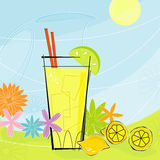 lemonade retro summer vector ελεύθερη απεικόνιση δικαιώματος