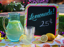 Lemonade for sale stock photography