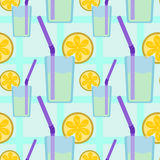 Lemonade seamless background design Stock Photos