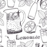 Lemonade seamless pattern Royalty Free Stock Photos