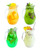 Lemonade set isolated Stock Photos