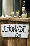 Lemonade Stand. With White Sign Stock Photo