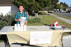 Lemonade Stand Stock Photo