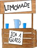 Lemonade Stand. This illustration that I created depicts a childs lemonade stand Stock Photo