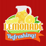 Lemonade sticker or label Stock Photos
