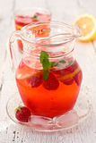 Lemonade with strawberries Royalty Free Stock Photo