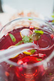 Lemonade with strawberries Royalty Free Stock Photography