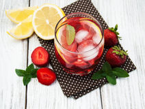 Lemonade with strawberries Royalty Free Stock Image