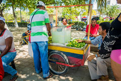 Lemonade street vendor, Santa Marta, caribbean Stock Photo