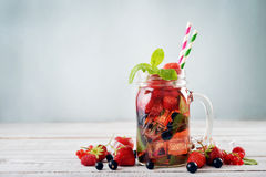 Lemonade with summer berries Royalty Free Stock Images
