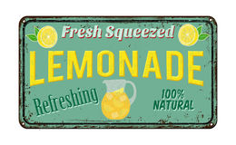Lemonade vintage rusty metal sign. On a white background, vector illustration Stock Photo