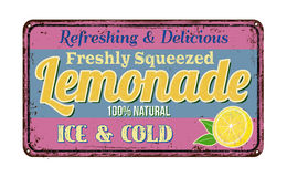 Lemonade vintage rusty metal sign Stock Photo