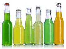 Lemonadeflaskor arkivbild