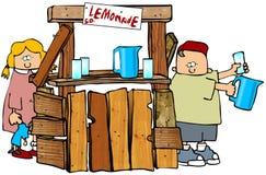 lemonadestand royaltyfri illustrationer