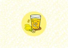 Lemonadfärgstänk Arkivfoton