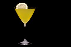 Lemoncello cocktail. With lemon slice in frosted glass Stock Photography