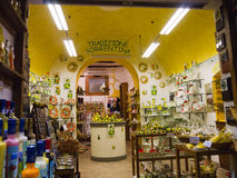 Lemoncello Shop. The local liqueur of the area of Sorrento is made from lemons Stock Photography