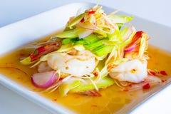 Lemongrass σαλάτα με τις γαρίδες Στοκ φωτογραφίες με δικαίωμα ελεύθερης χρήσης