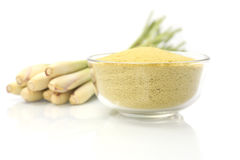 Lemongrass balt salts in a bowl, Stock Image