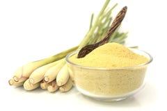 Lemongrass balt salts in a bowl Stock Images