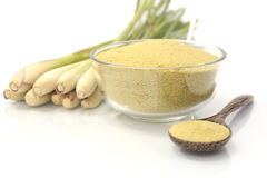 Lemongrass balt salts in a bowl Stock Images