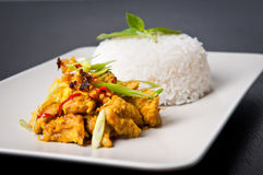 Lemongrass chicken dish Royalty Free Stock Images