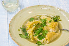 Lemongrass Chicken Dumplings Stock Image