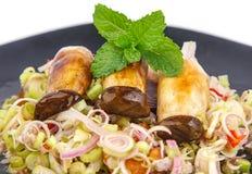 Lemongrass salad with grill mushroom Royalty Free Stock Photos