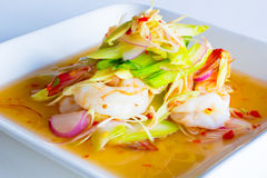 Lemongrass salad with shrimp Royalty Free Stock Photos