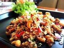 Lemongrass Salad. Thai-styled Lemongrass Salad and Cashew nuts Royalty Free Stock Photo
