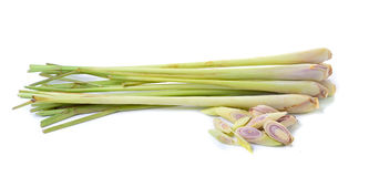 Lemongrass on white background Stock Photos