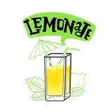 Lemoniada sok odizolowywający Fotografia Stock