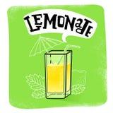 Lemoniada sok odizolowywający Obrazy Royalty Free