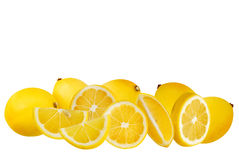 Lemons. Set of lemons on white background with c/p stock photos