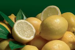 Lemons. Background royalty free stock photo