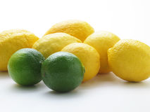 Lemons. A close up of a bunch of Lemons Stock Image