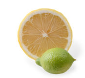 Lemons. Isolated on white background Stock Images