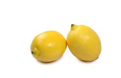 Lemons. Two lemons on white background Stock Photos