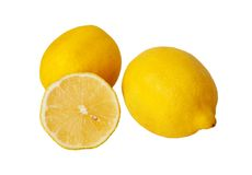 Lemons. Are on white background Royalty Free Stock Photography