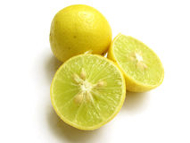 Lemons. Fresh ripen yellow lemons isolated on white Royalty Free Stock Image