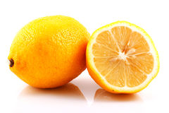 Lemons. Photo of lemons on white background Royalty Free Stock Images