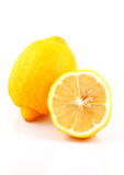 Lemons. Photo of lemons on white background Royalty Free Stock Photo