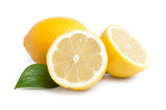 Lemons. Isolated over white background stock photo